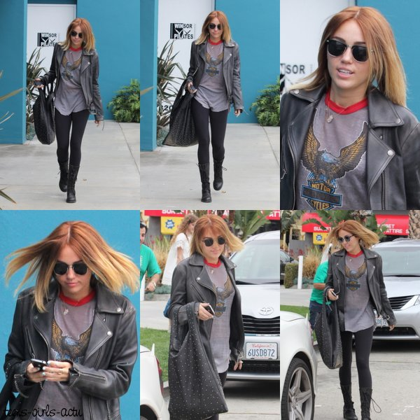 02/05 : Miley a été aperçue quittant comme toujours son cours de Pilates dans West Hollywood