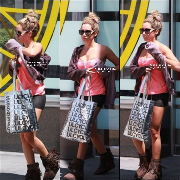 16/07/ - Ash' sortant de la salle de gym dans West hollywood