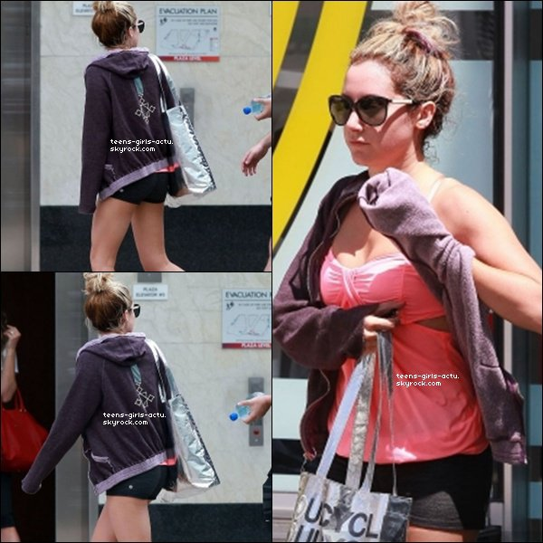 16/07/ - Ash' sortant de la salle de gym dans West hollywood