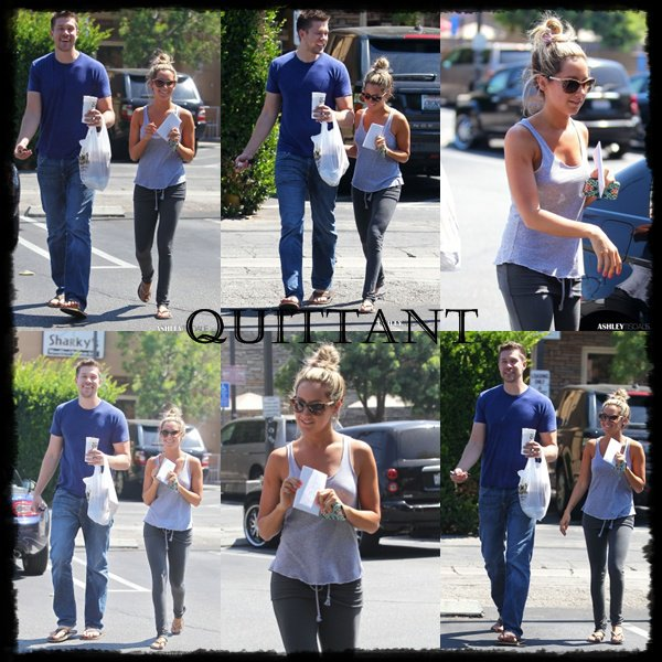 17/07 : Ashley quittant la maison de ses parents dans Toluca Lake