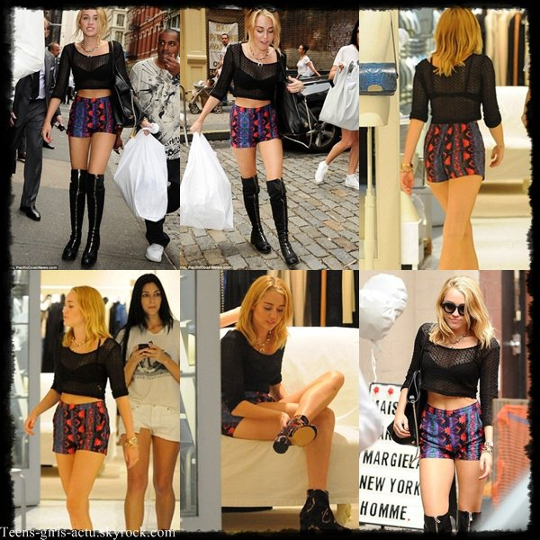 23/07 : Miley est à New-York. Elle y a été aperçue en train de faire du shopping