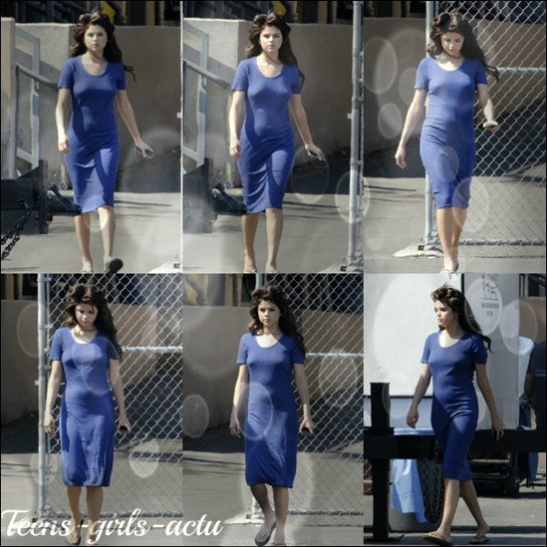 "04/08 : Selena a été vue sur le set De son nouveau film ""Feed The Dog"" à Los Angeles"