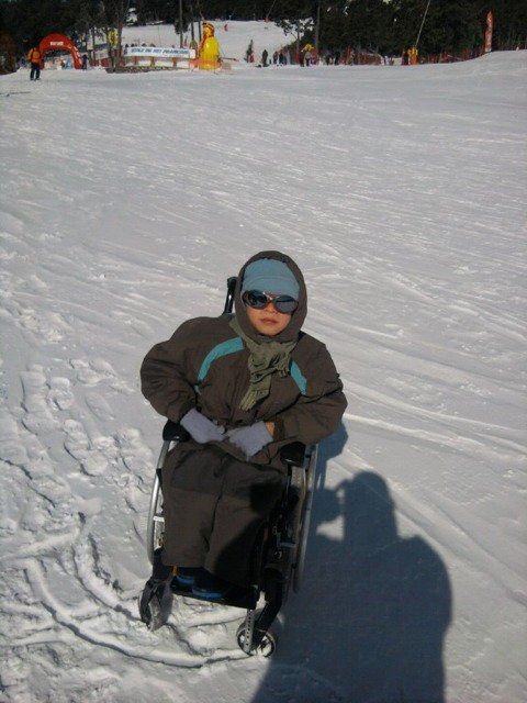 Enzo à la neige !!!