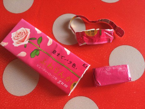 Chewing-gum à la rose Fuwarinka