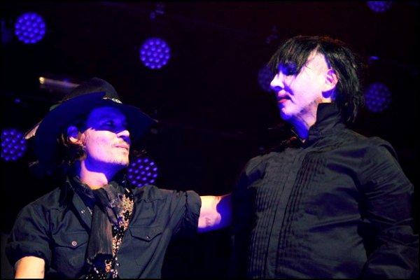 Marilyn Manson invité aux fiancailles de Johnny Depp et Amber Heard