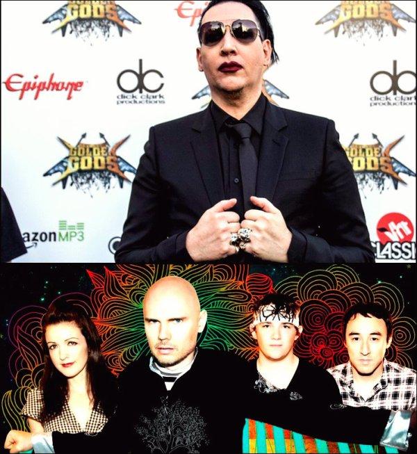 Le groupe des Smashing Pumpkins et Marilyn Manson annoncent un tournée commune.