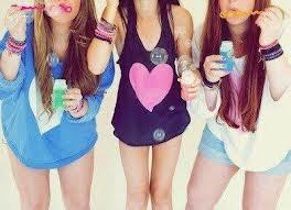 moi ,ma soeur et ma cousine