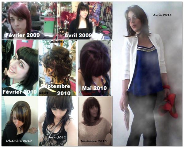 Mes looks coiffures et looks vêtements depuis 2009...