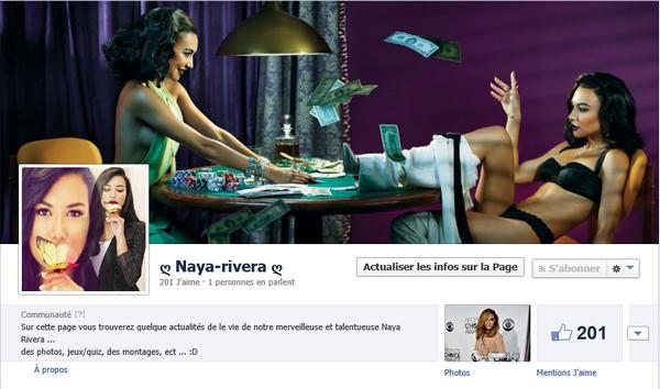 Naya Rivera & Facebook & Twitter !