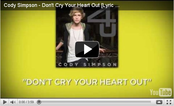 ALL DAY & DON'T CRY YOUR HEART OUT ! Les deux nouvelles chansons de Cody, vous en pensez quoi ?