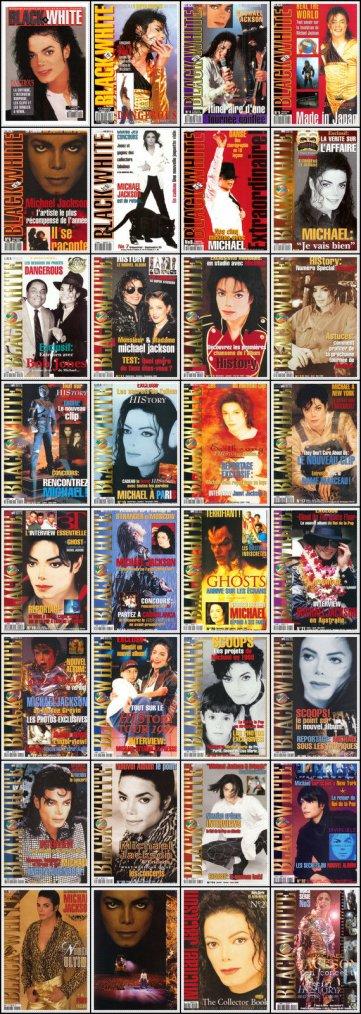 A Vendre Collection complète des Magazine Black & White de Michael Jackson