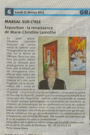 """exposition a Marsac sur le théme """"Les couleurs du temps"""""""