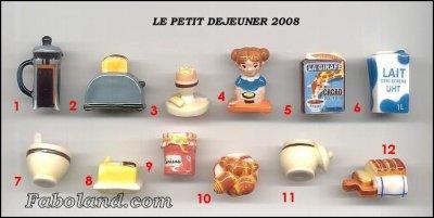 VENTE 40    -     LE PETIT DEJEUNER 2008     -     0 ¤ 50     +   Frais de port
