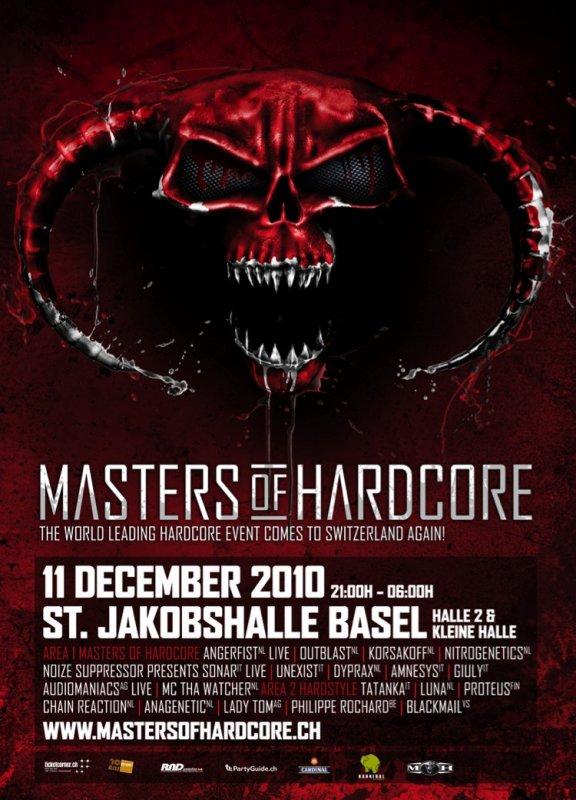Masters of Hardcore @ St. Jakobshalle - Basel (Suisse)
