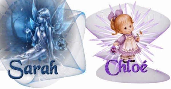 Duel de prénoms : Sarah / Chloé .
