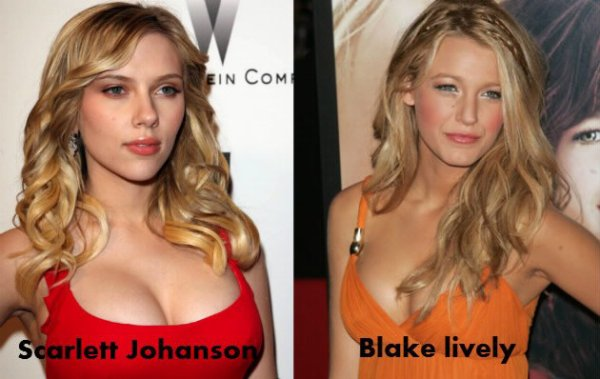 Scarlett Johanson / Blake lively.