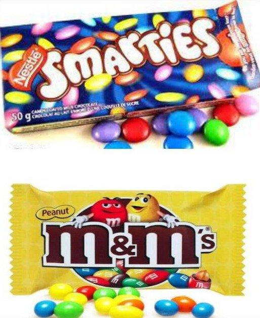 Smarties / M&M's.