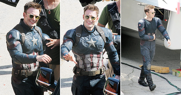 More pictures on set 'Captain America: Civil War'