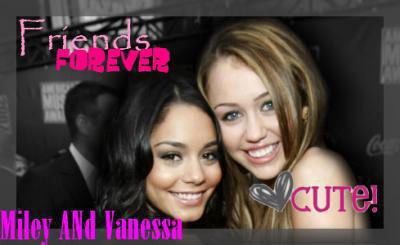 Vanessa Hudgens et Miley Cyrus