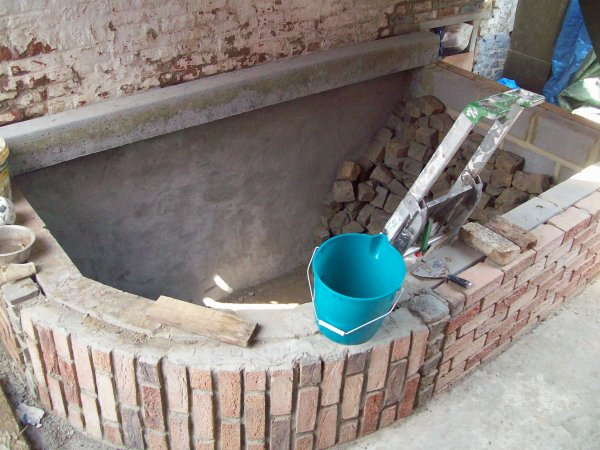 Le nouvel étang que mon frère construit chez lui...