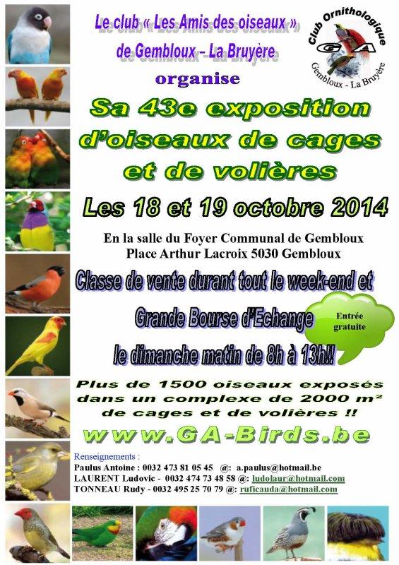 Annonce exposition de Gembloux