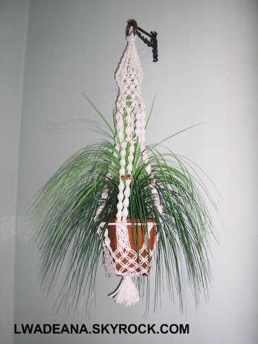Blog de lwadeana page 5 blog de lwadeana - Porte plante macrame ...