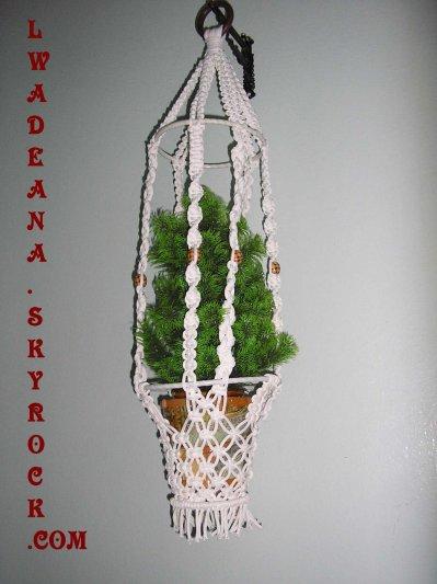 3 me support pots blog de lwadeana - Suspension pot de fleur macrame ...