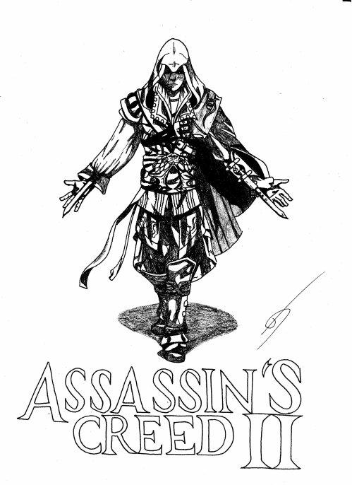10ème dessin : Ezio AUDITORE (Assassin'S Creed II) - Blog ...