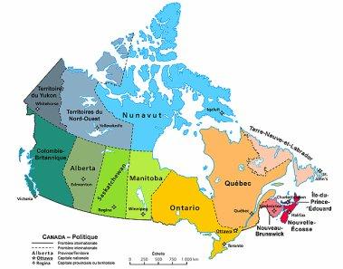 LE CANADA ( ou pays des bûcherons & des caribous.)