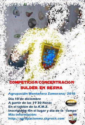 HOY VIERNES CELEBRAMOS LA COMPETICIÓN/CONCENTRACIÓN DE BULDER EN RESINA. AMZ/2010 - 19'30 HORAS
