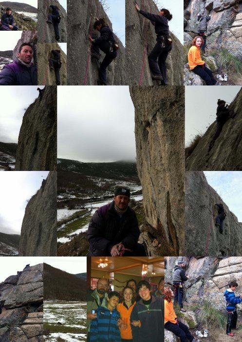 AUNQUE HACE FRIO..., seguimos escalando !!!