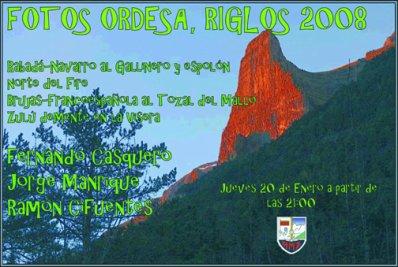 PRESENTACIÓN FOTOGRÁFICA ORDESA - RIGLOS  (Ramón, Fernándo, Jorge) - Jueves 20 de enero a las 21'00 horas