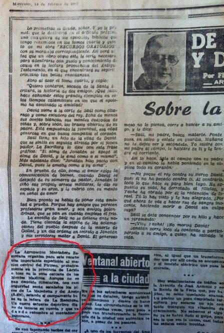 HEMEROTECA: NOTICIAS DE LA AMZ EN LA PRENSA DE 1962