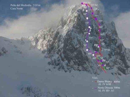 Pico del Mediodía – Dama blanca, y Gabanceda en ski, by Ramón Cifuentes