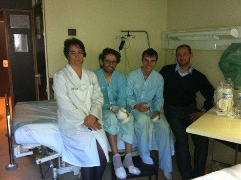 NOTICIAS SOBRE FERNÁNDO Y RAMÓN EN EL HOSPITAL DE ZARAGOZA... Y LA DESEADA FOTO DE CUMBRE DE LA INVERNAL A LA NORTE DEL CERVINO !!!