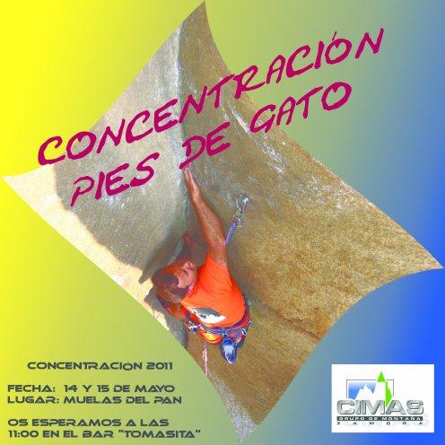 """GRUPO DE MONTAÑA CIMAS: CONCENTRACIÓN ANUAL DE ESCALADA DEPORTIVA """"PIES DE GATO"""" - 14 Y 15 DE MAYO, MUELAS DEL PAN"""