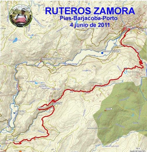 SENDERISMO / RUTEROS: EXCURSIÓN 4 DE JUNIO DEL 2011 -  PIAS-BARJACOBA-PORTO DE SANABRIA.