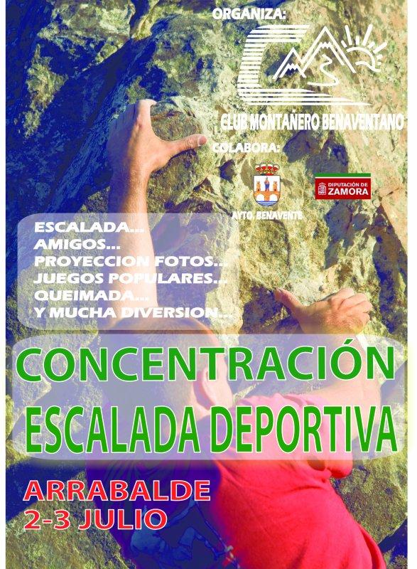 Concentración de escalada deportiva - Arrabalde (Zamora). 2 y 3 de Julio.