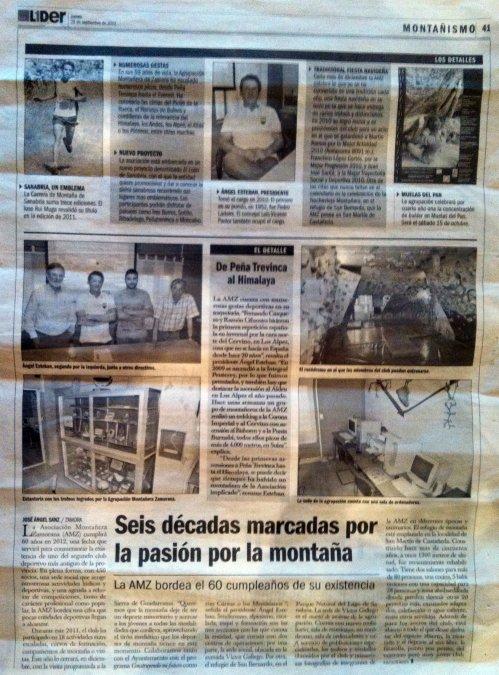 LA AMZ EN LA PRENSA:  Diario, El Adelanto, Jueves 29 de septiembre de 2011