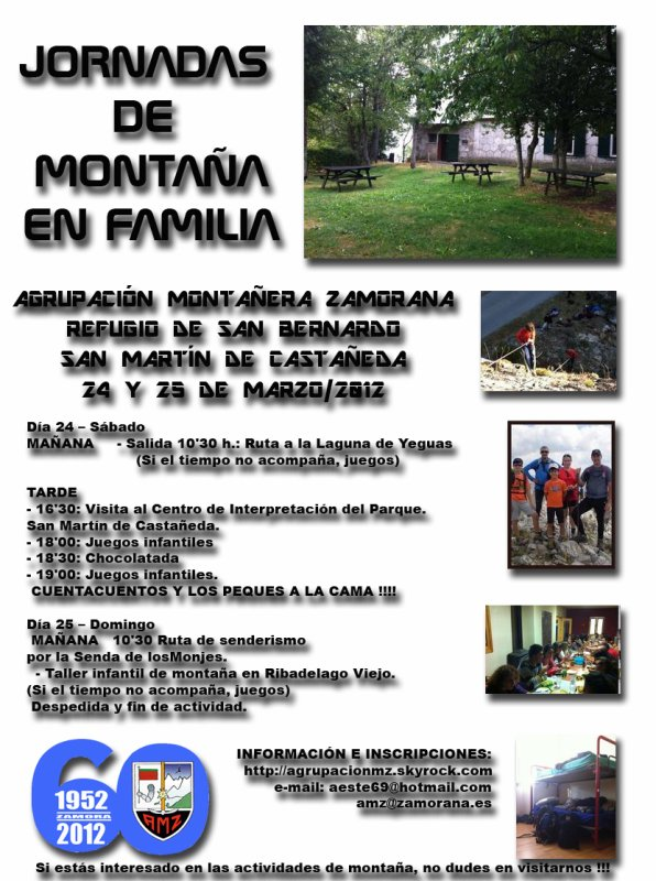 ACTIVIDAD INFANTIL: REFUGIO DE SAN BERNARDO. SAN MARTÍN DE CASTAÑEDA (SANABRIA) 23, 24 y 25 DE MARZO.