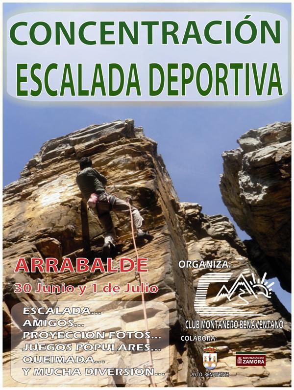 CONCENTRACIÓN DE ESCALADA DEPORTIVA EN ARRABALDE. 30 de Junio y 1 de Julio by Club Montañero Benaventano