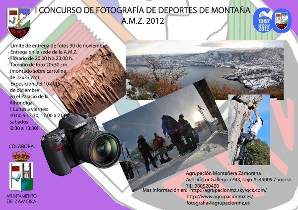 CONCURSO DE FOTOGRAFIA: DEPORTE EN LA MONTAÑA. AGRUPACIÓN MONTAÑERA ZAMORANA 60º ANIVERSARIO.