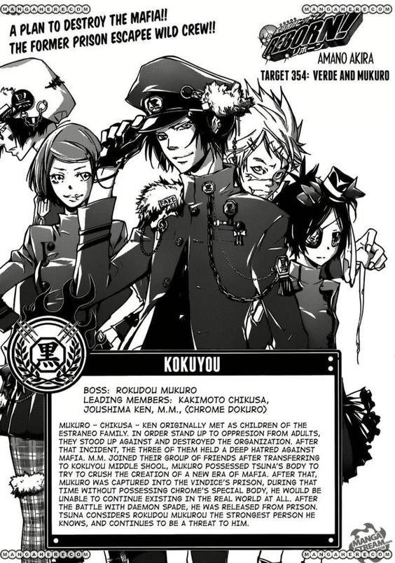 Kateikyoushi Hitman Reborn : Présentations des Familles Mafieuses ! XD