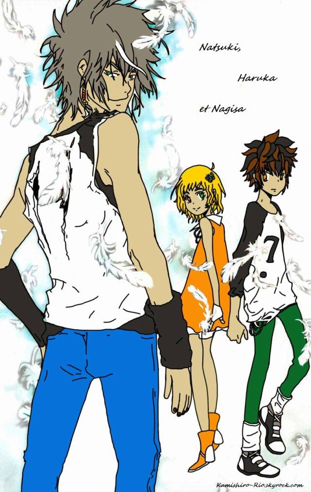 Colo de mes OCs : Natsuki, Haruka et Nagisa - Les frères et la soeur ! XD