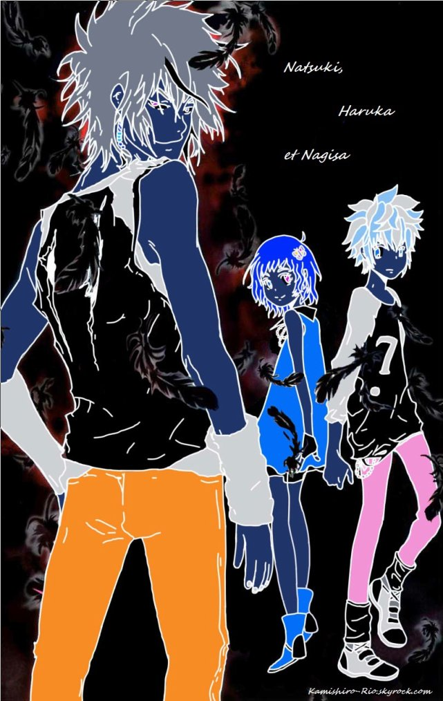 Colos de Natsuki, Haruka et Nagisa (Versions Normale et Inversée).