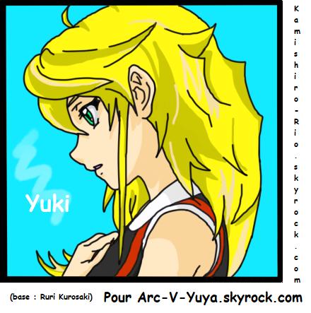 Colo pour Arc-V-Yuya : Son OC Yuki :) !