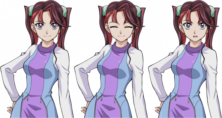 Yu-Gi-Oh ! Legacy of the Duelist Link Evolution - Sprites de Yuzu et ses Doubles + Ray.