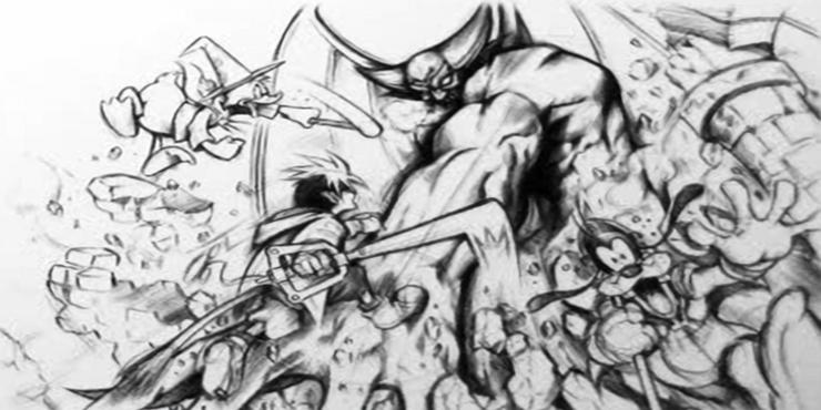 Le Concept Art de Sora (Kingdom Hearts).