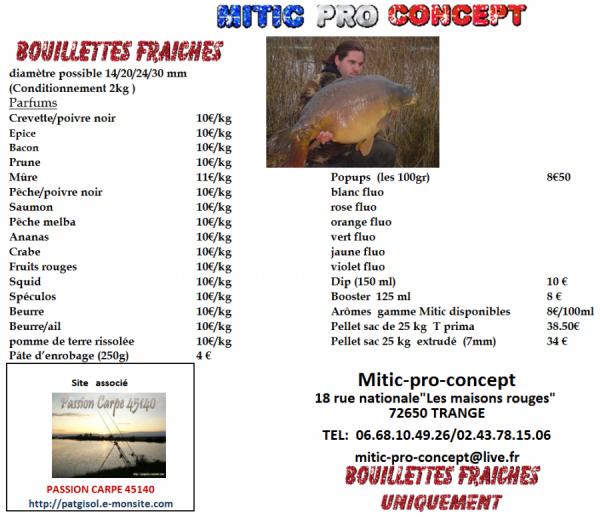 Les championnats de France 2012.....et Mitic Pro Concept....