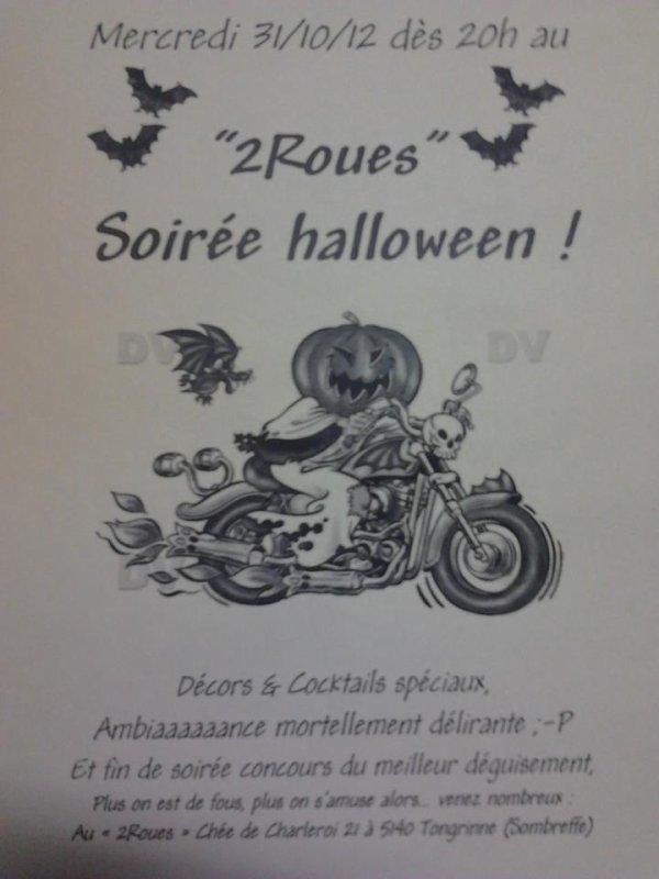 "Soiree halloween au "" 2 roues """